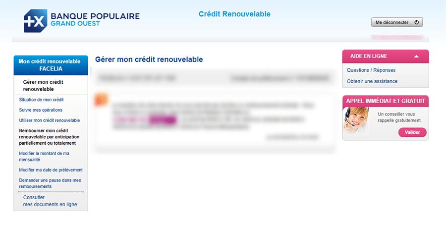 Rembourser crédit facelia